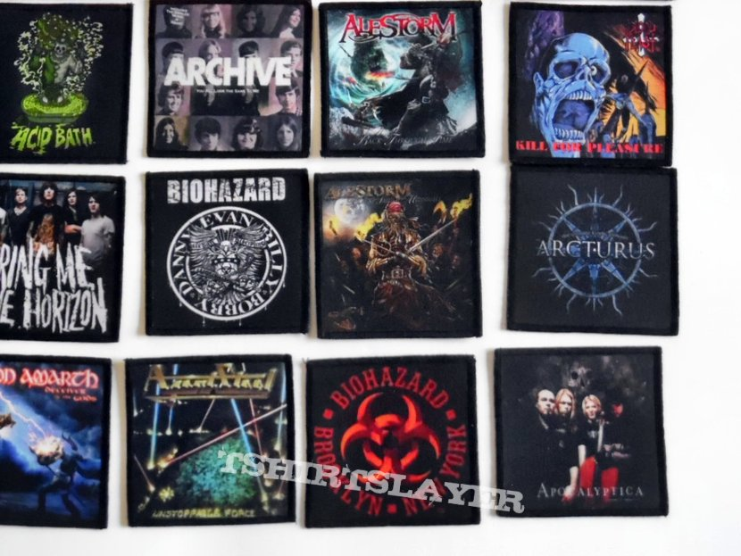 various band patches