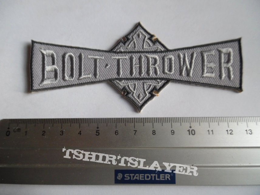 Bolt Thrower shaped patch b222