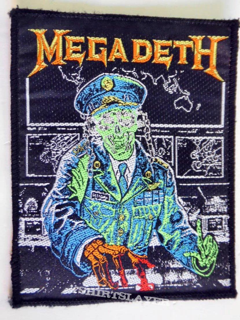 MEGADETH  HOLY WARS no 49 vintage patch 1990 brandnew  9 x 12,5 cm