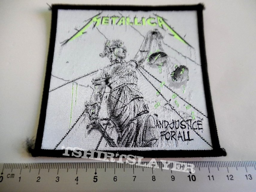 METALLICA  rare 80's  vintage  patch 22 new  10.x 9.5 cm and justice for all