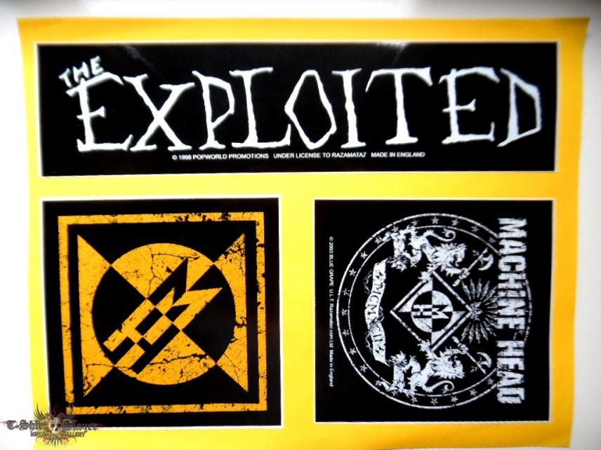 stickers , machine head, the exploited off. merchandise 1393