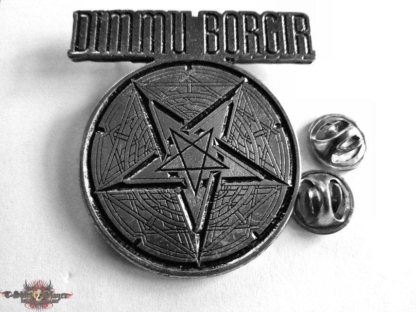 Dimmu Borgir  metal shaped pin speld badge   5x5 cm