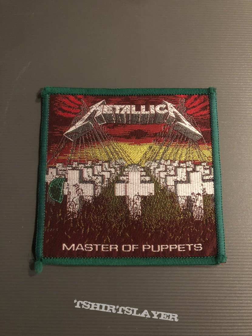 Metallica- Master of Puppets Patch (Green border)