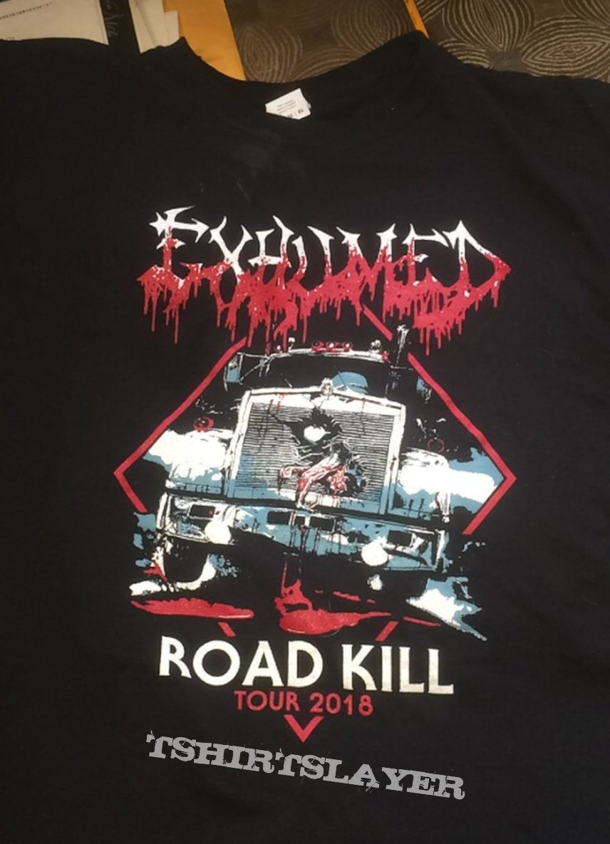 Exhumed 2018 tour shirt