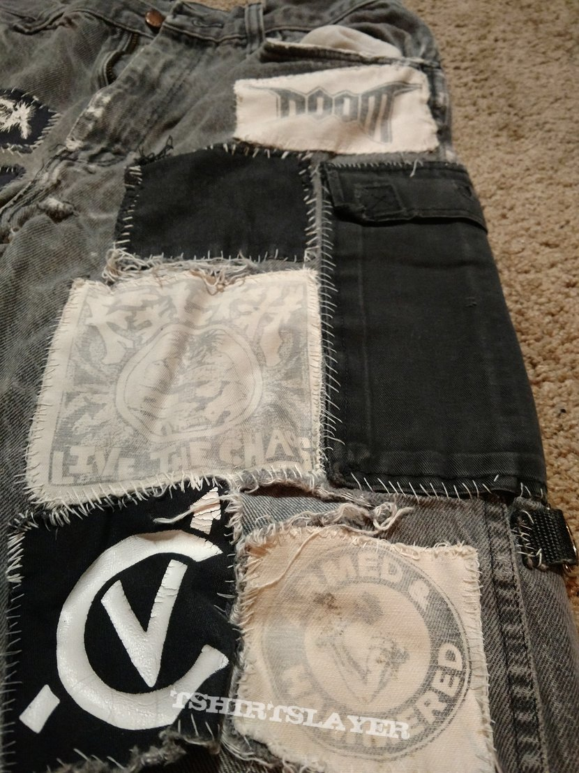 assorted crust punk pants/shorts