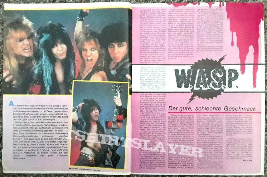 W.A.S.P.- posters/mags/features/etc.