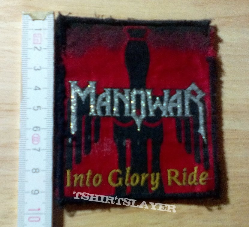 manowar - patch - into glory ride