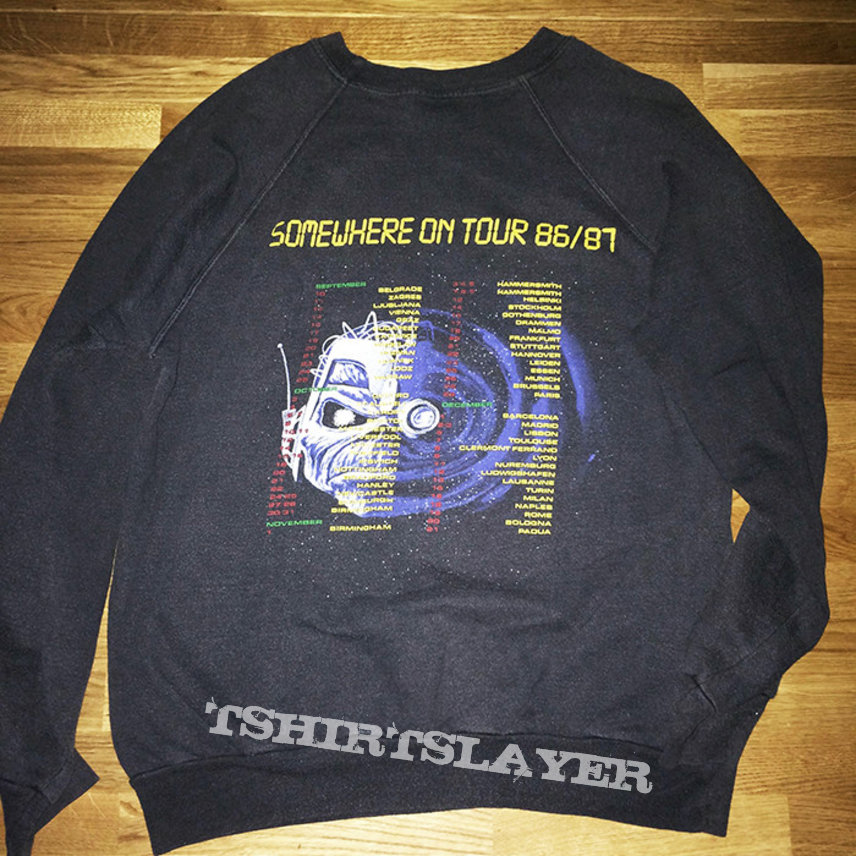 """Iron Maiden - """"Somewhere On Tour 86/87"""" sweater"""