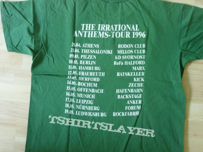 Skyclad Irrational Anthems green t-shirt