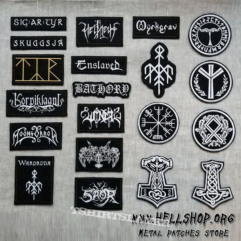 Hey Vikings! Embroidered patches on the theme of Viking Metal!