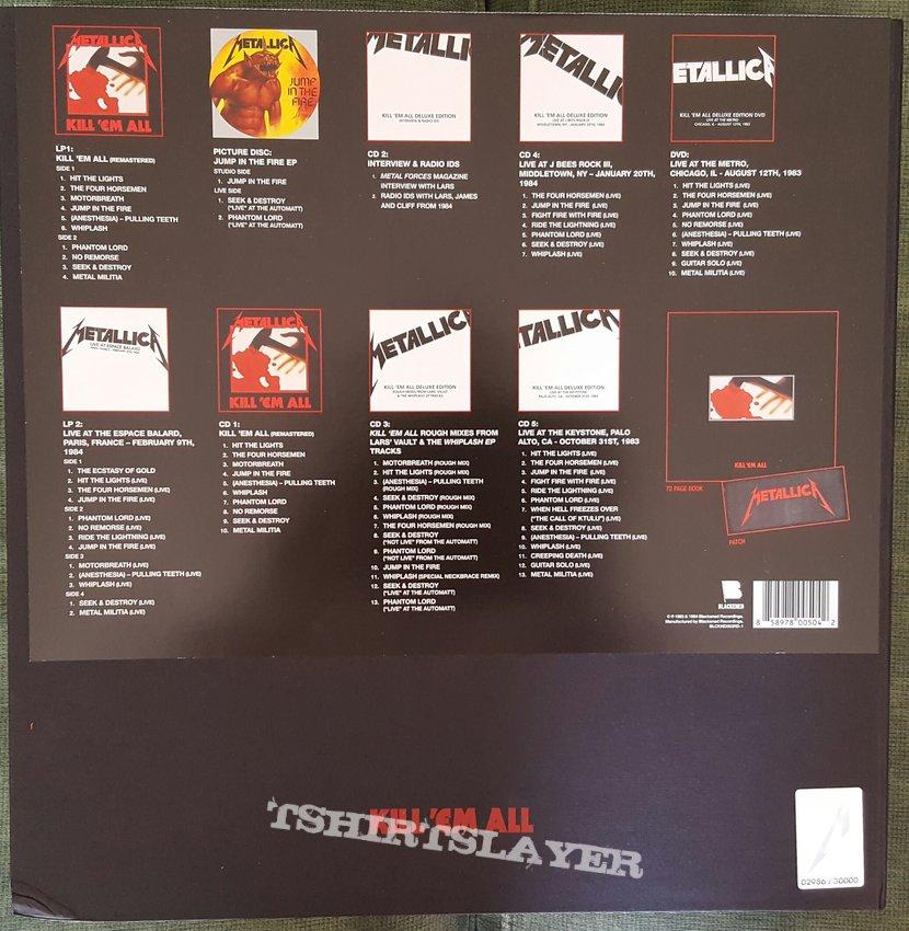 Metallica: watch james hetfield crack open deluxe edition of 'kill.
