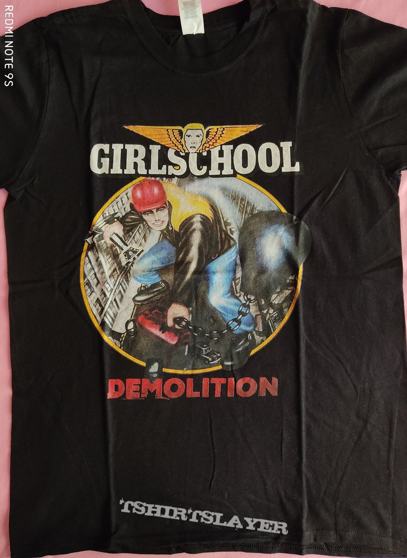 "Girlschool - ""Demolition"" official t-shirt"