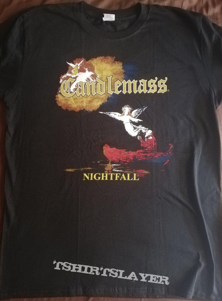 """Candlemass - """"Nightfall"""" official tour shirt reprint"""