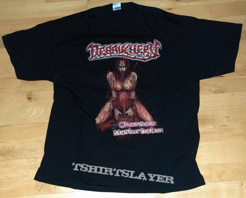"Debauchery ""Chainsaw Masturbation"" Tshirt xl"
