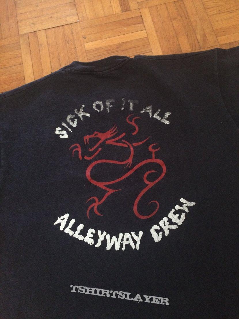 """Sick of it all """"alleyway crew"""" shirt"""