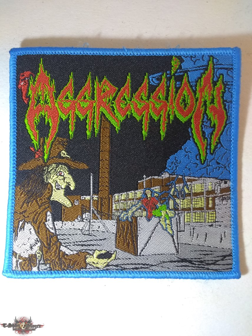 Aggression woven patch