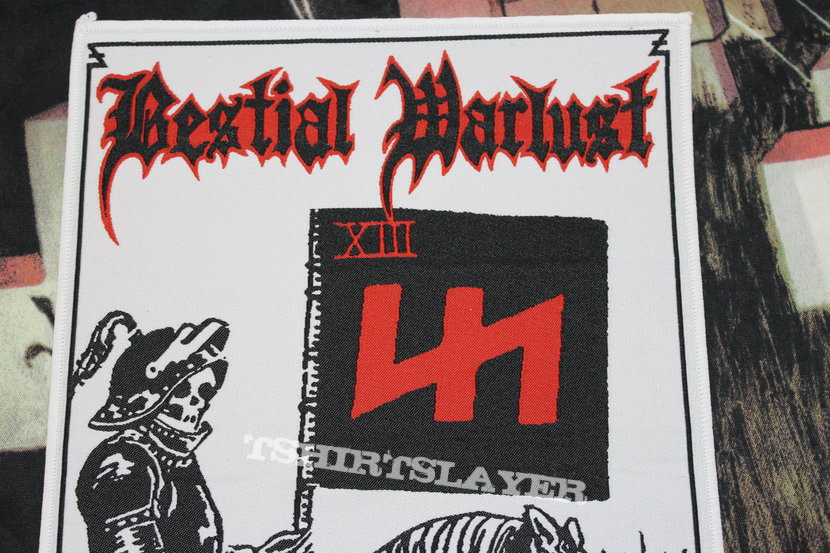 Bestial Warlust Woven Back Patch