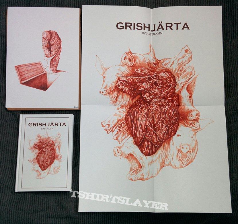 Grishjärta by Nattramn (#17/200 w/ poster 17/30. Art Print #20/20)