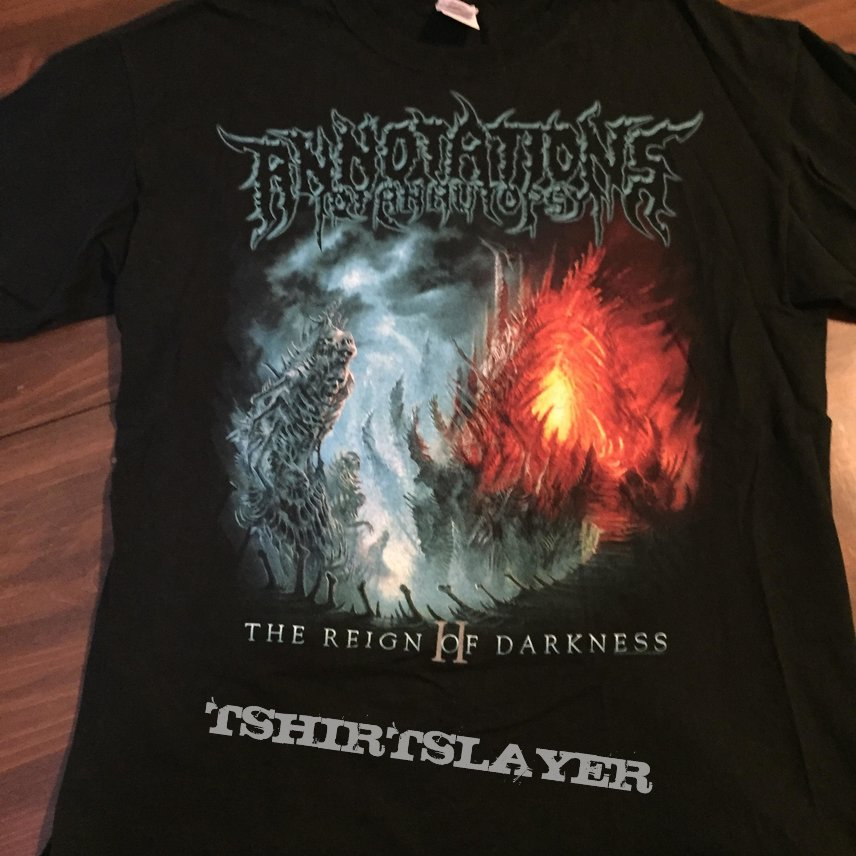 Annotations of an Autopsy Reign of Darkness shirt