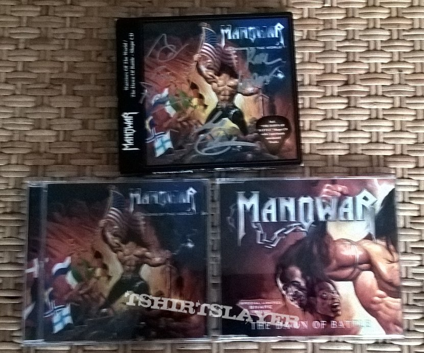 Manowar signed Warriors Of The World / The Dawn Of Battle - Shape CD