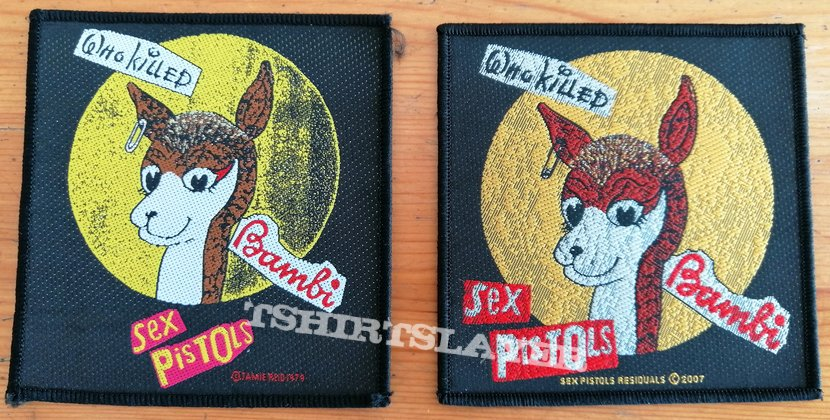 "Sex Pistols ""Who Killed Bambi"" Patches, Copyright 1979 vs. 2007"
