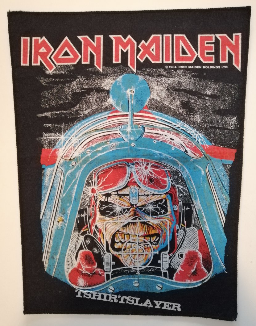 Iron Maiden - Aces High - Backpatch (Blue Version)