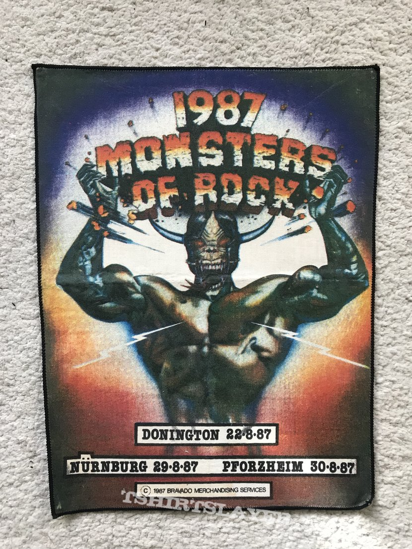 Monsters of Rock 1987 backpatch
