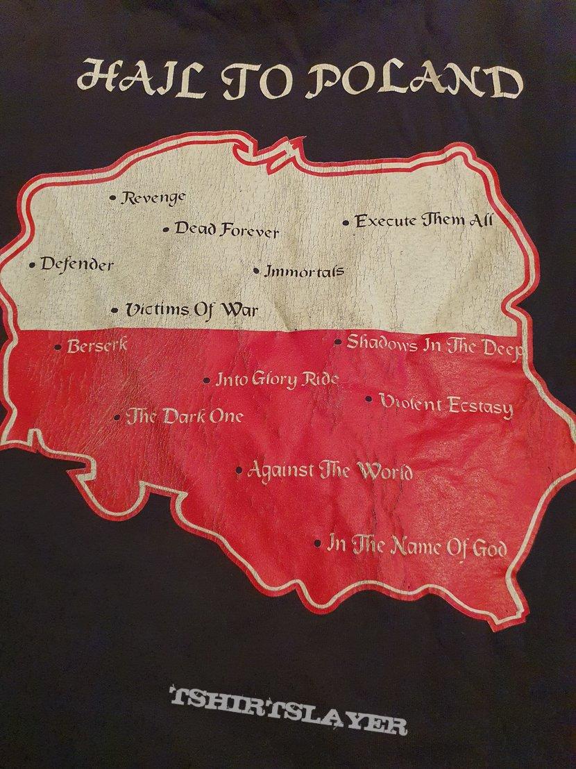 """Unleashed """"Hail to Poland"""" 1995 og longsleeve"""