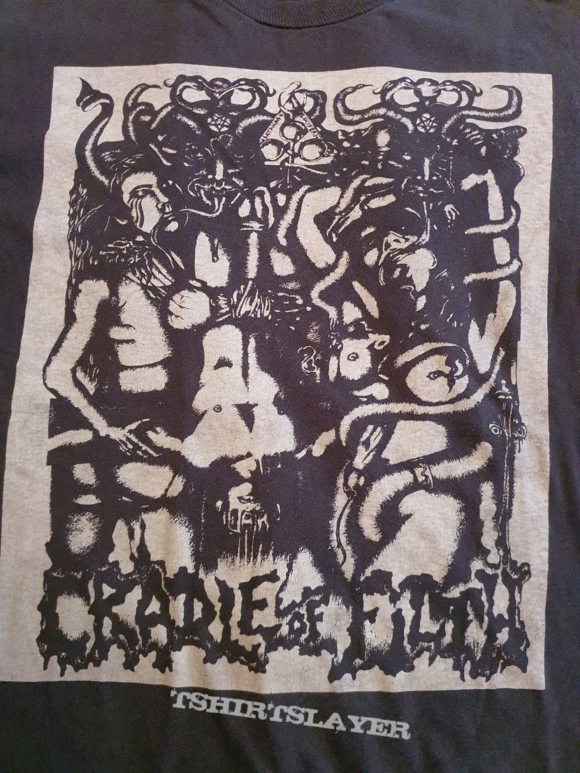 """Cradle of Filth """" Fuck Your God """" 1992 Longsleeve"""