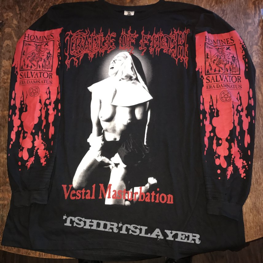 VESTAL MASTURBATION NEW SEW ON PATCH OFFICIAL BAND MERCH CRADLE OF FILTH