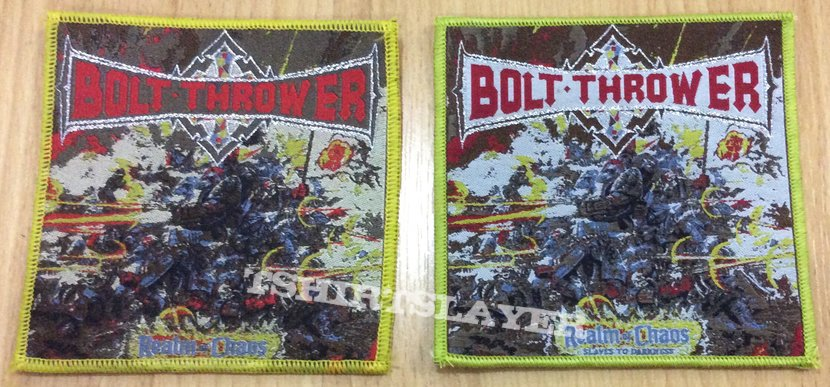 Bolt Thrower patch for trade