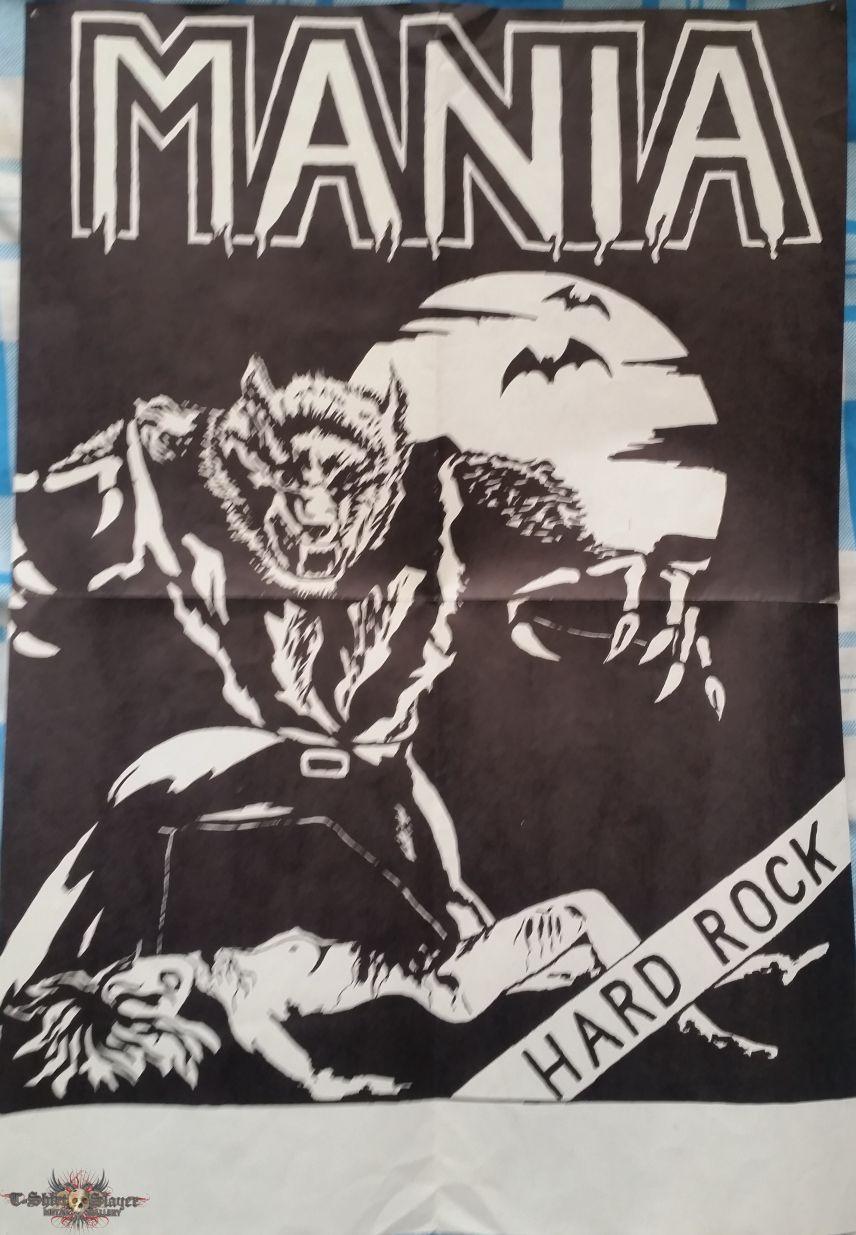 """Mania - """"Werewolf"""" poster 1984"""
