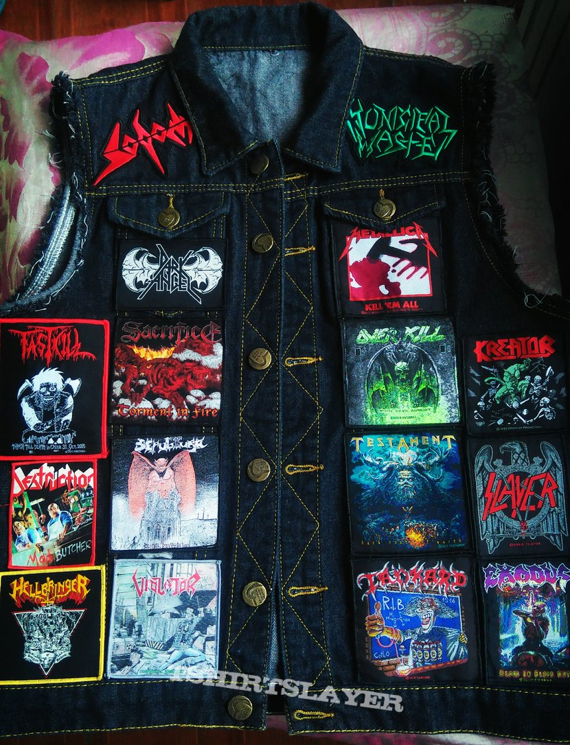 My first battle jacket ! (thrash bands)