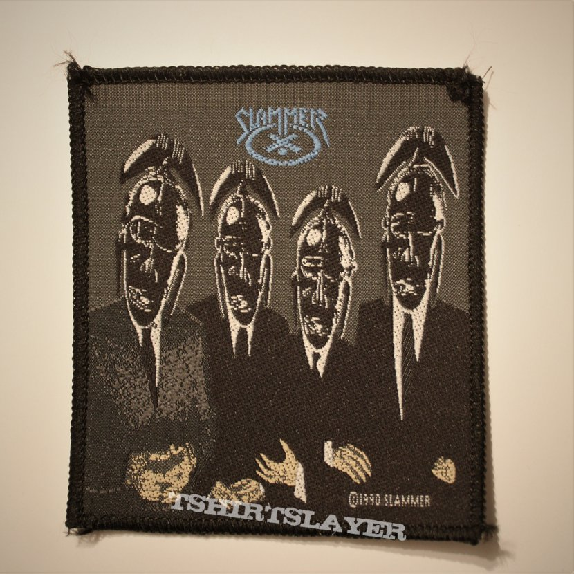 Slammer - The Work Of Idle Hands... woven patch