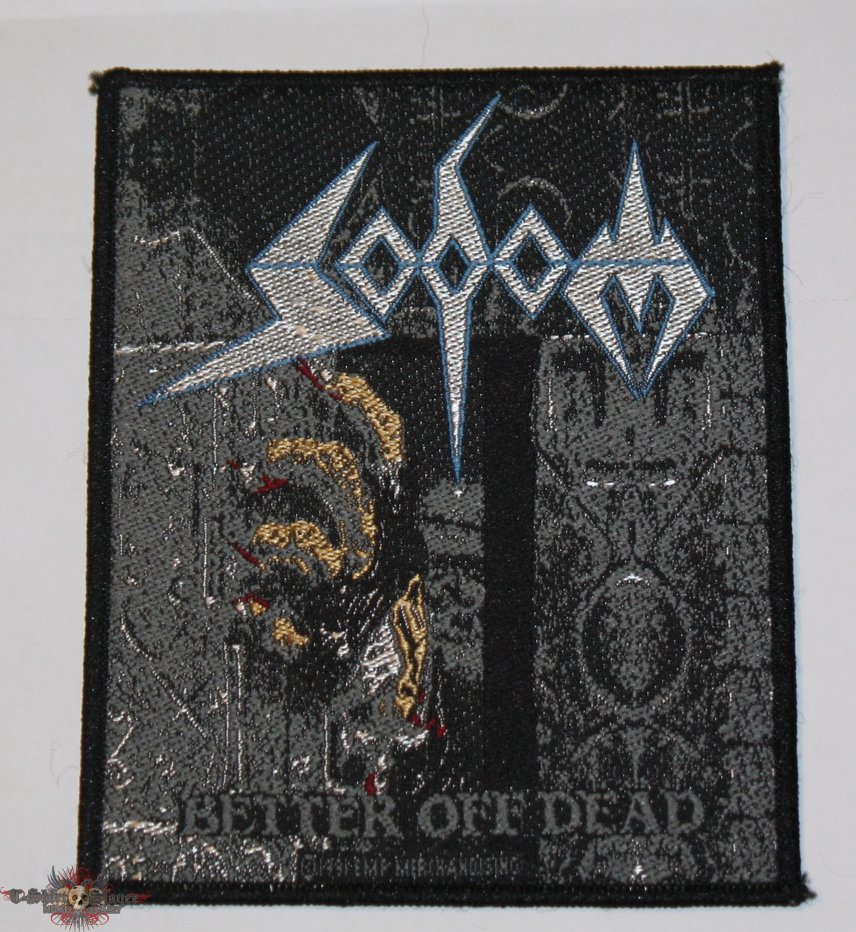 Sodom - Better Off Dead Woven patch