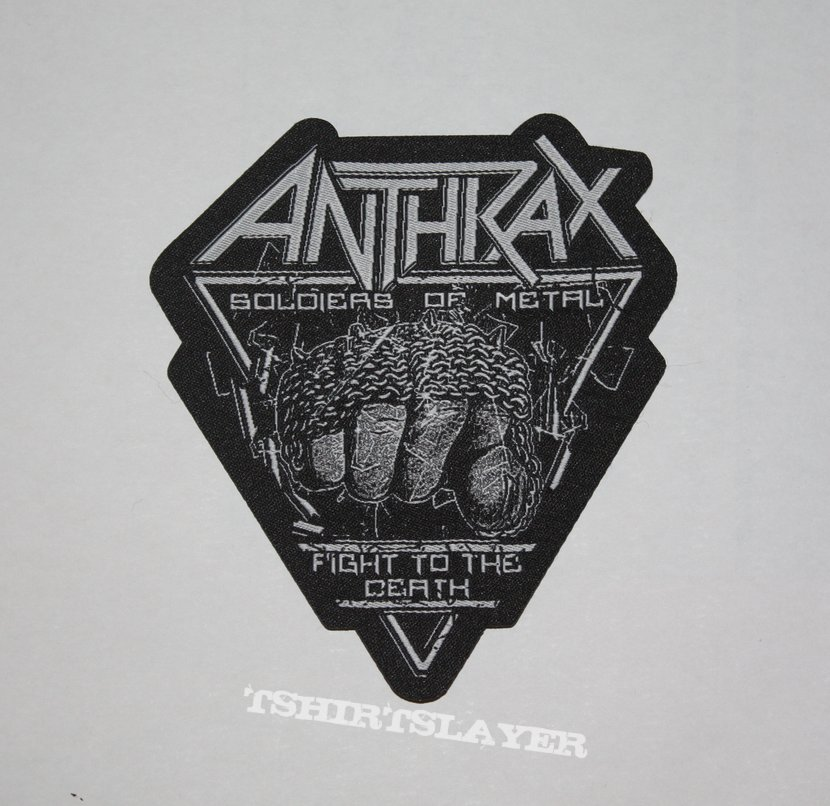 Anthrax -  Soldiers of Metal Woven shape patch