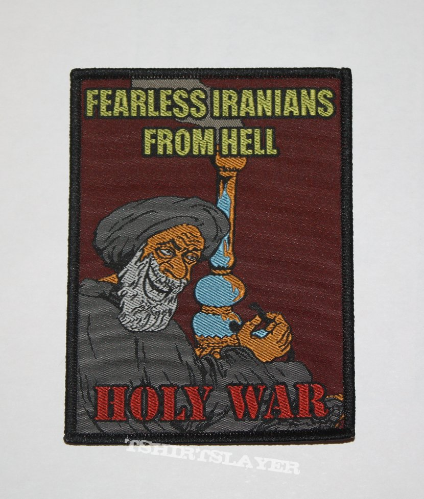 Fearless Iranians from Hell - Holy War Woven patch