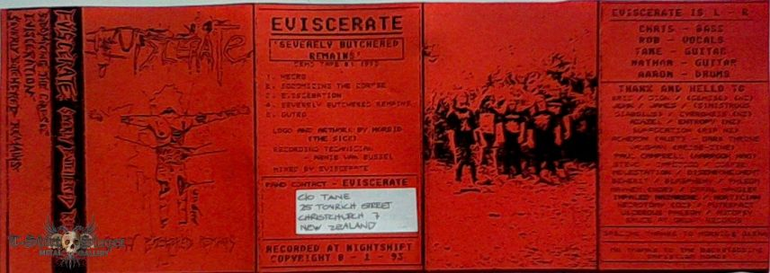 EVISCERATE - Severely butchered Remains (tape)