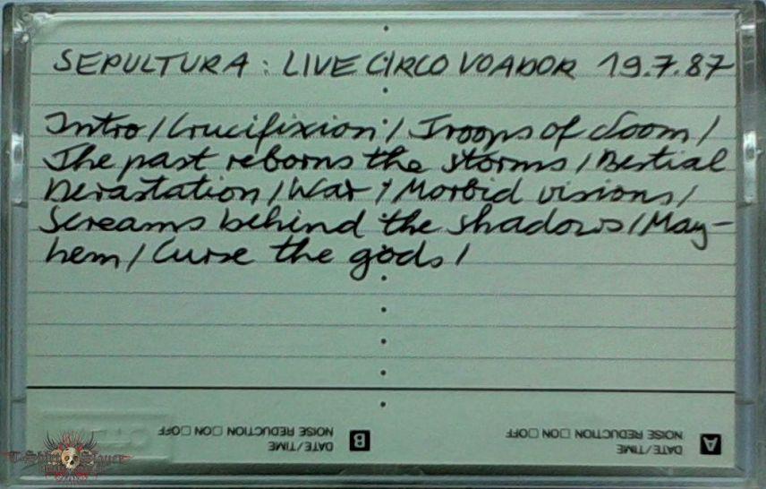 SEPULTURA - Live in Circo Voador, July 19th, 1987 / MUTILATOR - Rehearsal '87 / MALEFICENT - Rehearsal '89
