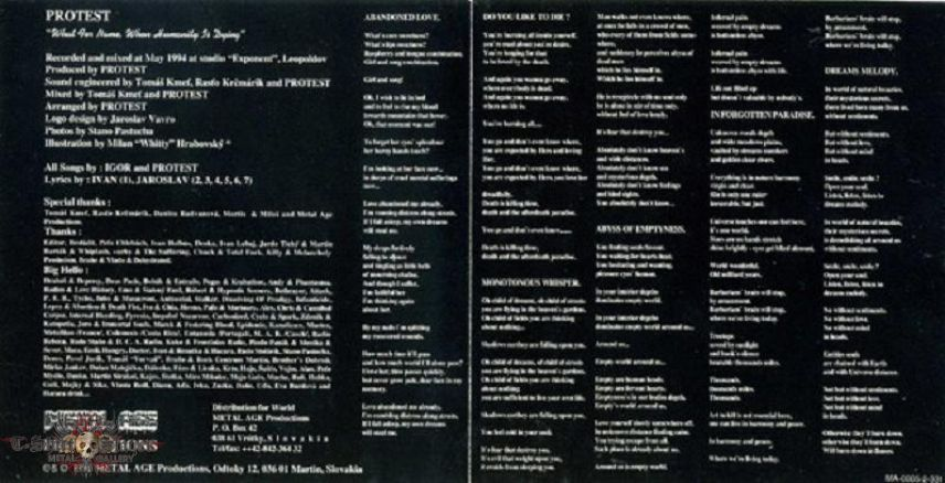 PROTEST - What for name, when Humanity is dying (promo CD)