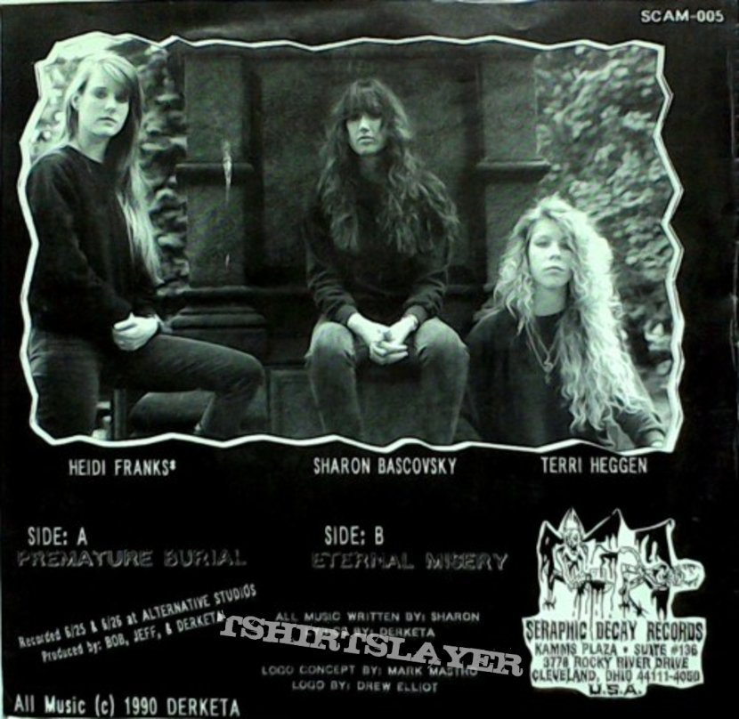 "DERKETA - Premature Burial (7"", clear blue vinyl)"