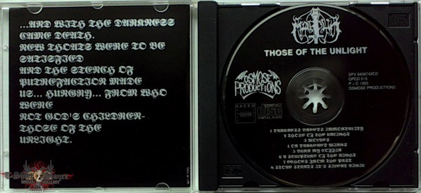 MARDUK - Those of the Unlight (CD, 1st edition)