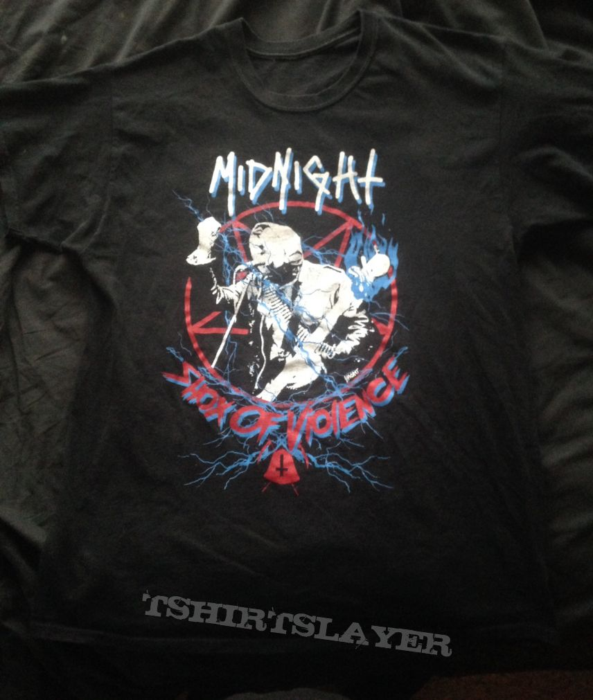 "Midnight - ""Shox of Violence"" Decibel Tour T-shirt (L)"