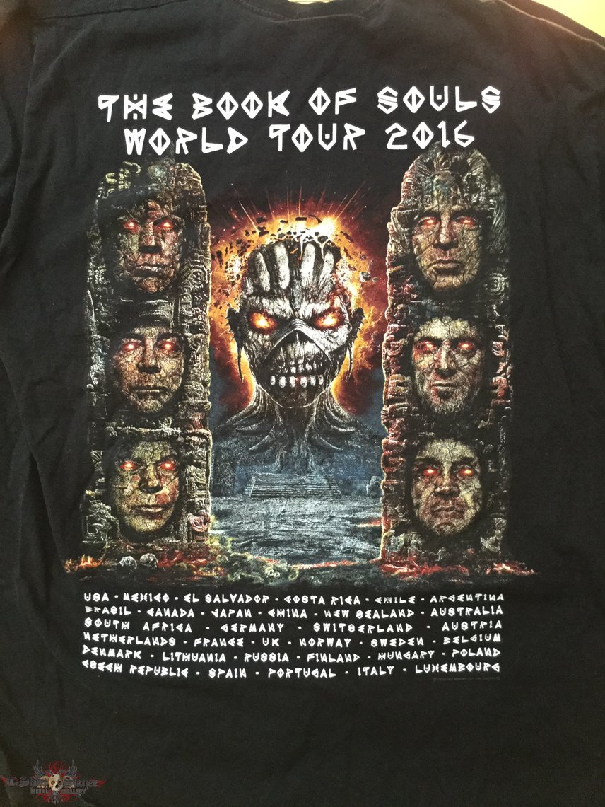 Iron Maiden Book of Souls tour tshirt 2016