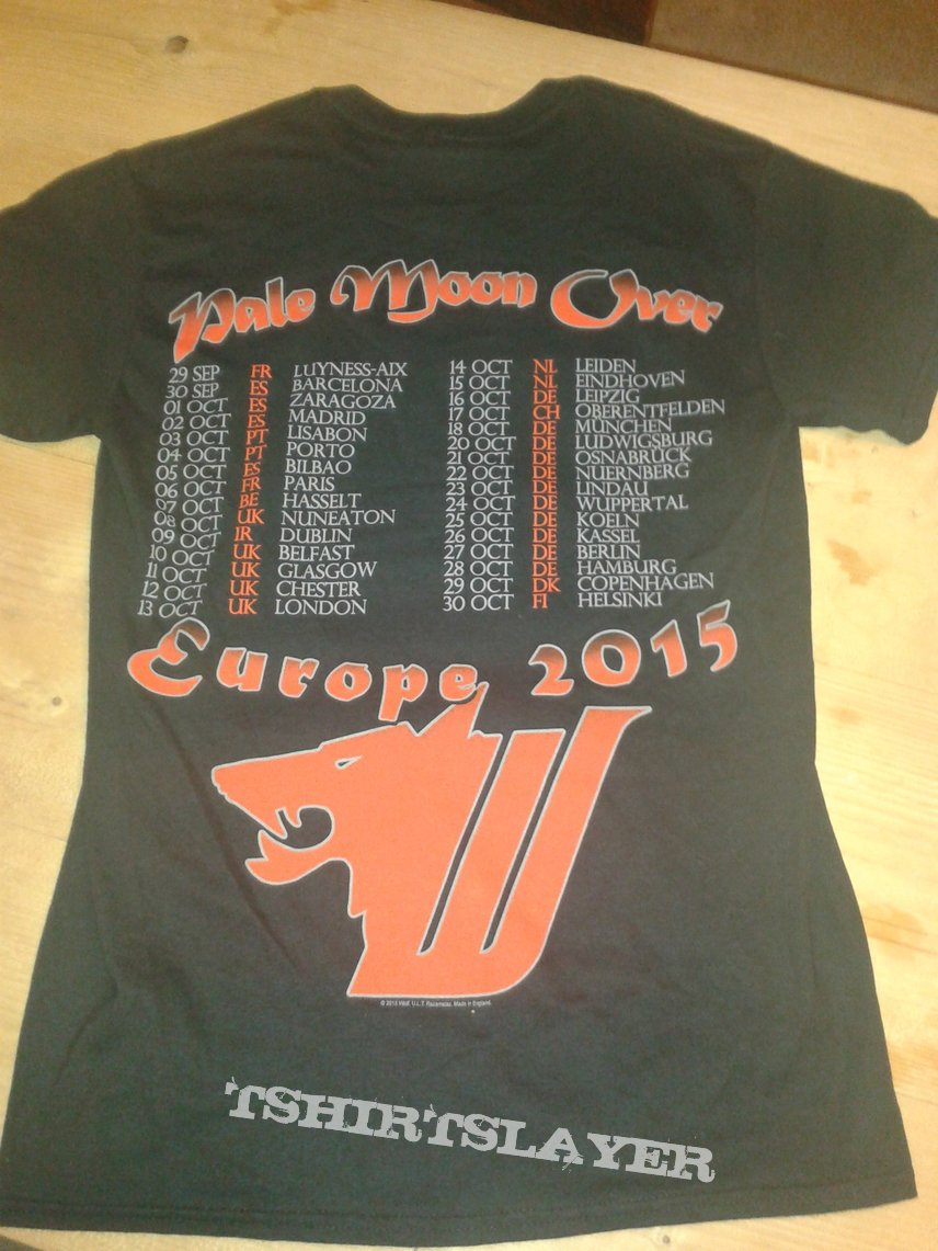 Wolf - Pale Moon Over Europe tour shirt