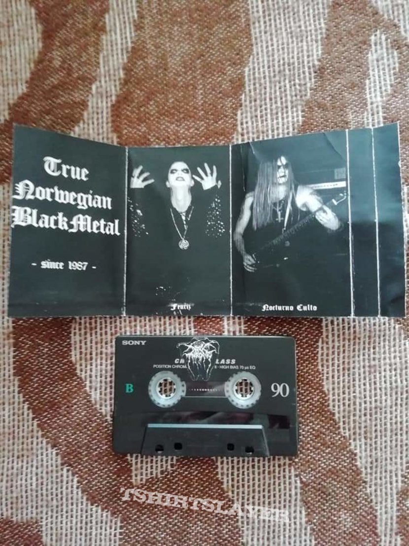 Darkthrone 'Live in Denmark' 90/ Unholy Black Metal Rehearsal '92' cassette