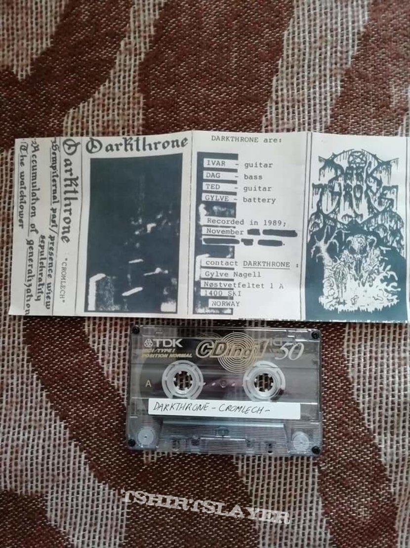 Darkthrone 'Cromlech' cassette white cover