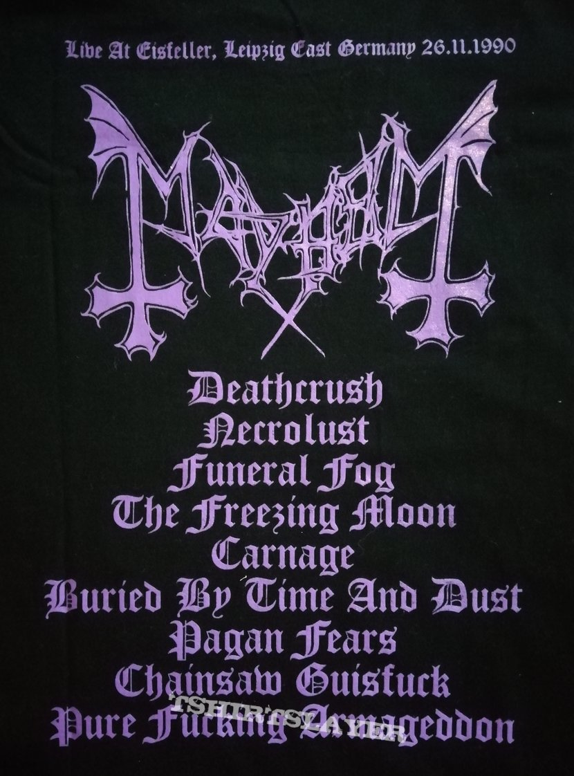 Mayhem 'Live in Leipzig' longsleeve