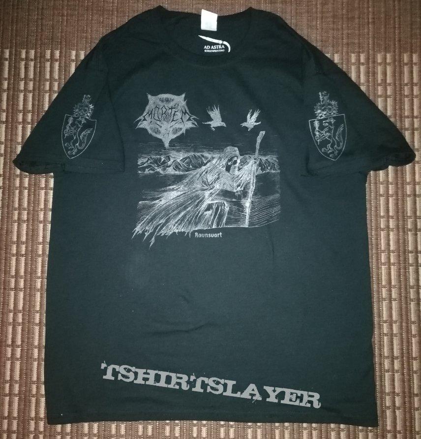 Mortem 'Ravnsvart' dark grey print shirt