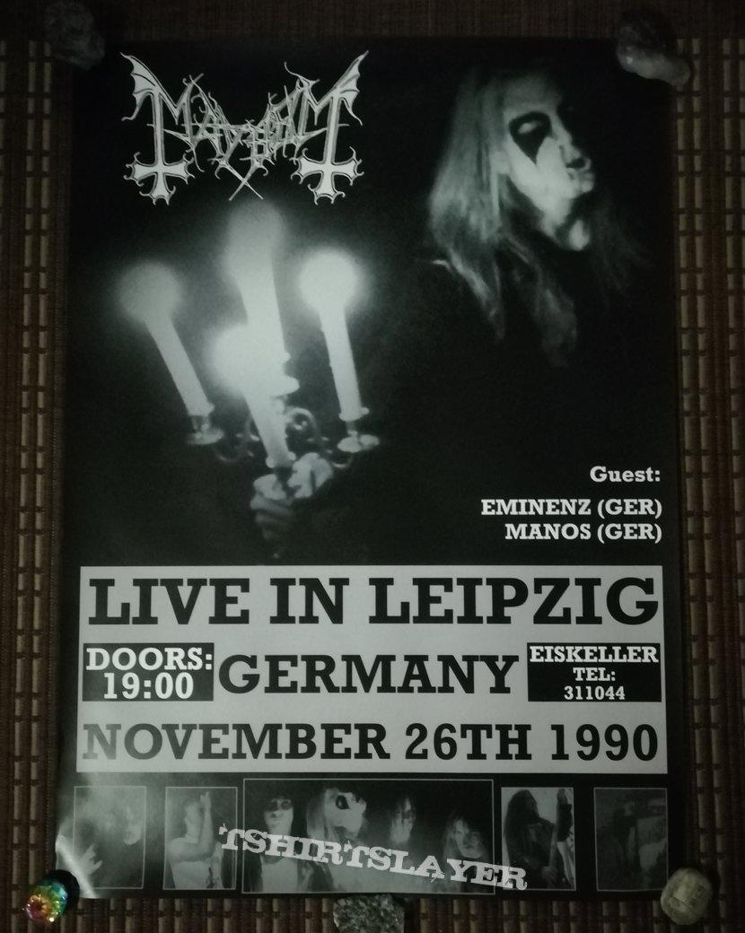 Mayhem Live In Leipzig Poster Tshirtslayer Tshirt And Battlejacket Gallery